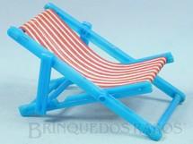 Brinquedos Antigos - Sem identificação - Cadeira de preguiça para Bonecas de 8,00 cm de altura Década de 1970