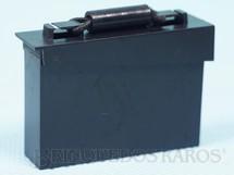 1. Brinquedos antigos - Estrela - Caixa de Munição preta Aventura Invasão Noturna Ano 1978