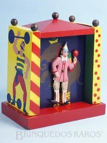 1. Brinquedos antigos - Reuge - Caixa de Música Palco do Circo com Palhaço dançarino 14,00 cm de altura Melodia Tico Tico no Fubá Datado 8 Set 1967