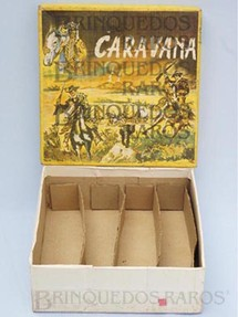 Brinquedos Antigos - Casablanca e Gulliver - Caixa do Conjunto Caravana perfeito estado Completa Integra e 100% Original Ano 1964