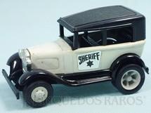 1. Brinquedos antigos - Tonka - Rico - Calhambeque Sheriff com 11,00 cm de comprimento Carroceria de aço Paralamas de plástico Década de 1970