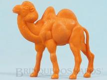 1. Brinquedos antigos - Casablanca e Gulliver - Camelo de plástico laranja Série Zoológico Década de 1970