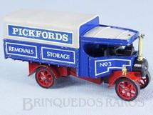 1. Brinquedos antigos - Matchbox - Caminhão a vapor 1922 Foden Steam Wagon Yesteryear Pickfords Removals Década de 1980