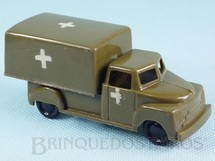 1. Brinquedos antigos - Beija Flôr - Caminhão Ambulância do Exército com 10,00 cm de comprimento Década de 1970