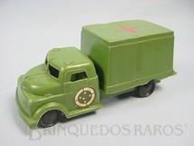 1. Brinquedos antigos - Balila - Caminhão Militar Ambulância do Exército Brasileiro com 13,00 cm de comprimento Década de 1970