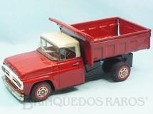 1. Brinquedos antigos - Metalma - Caminhão Basculante Ford F-600 com 31,00 cm de comprimento Década de 1960