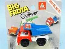 1. Brinquedos antigos - Casablanca e Gulliver - Caminhão Basculante Itaipu Binacional Big Frota Série Serviço Público Década de 1980 Blister aberto