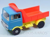 1. Brinquedos antigos - Estrela - Caminhão Basculante Mercedes Benz LP 608 Super Cargo com 22,00 cm de comprimento Ano de 1972