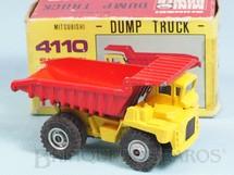 1. Brinquedos antigos - Shinsei - Caminhão Basculante Mitsubishi Dump Truck com 10,00 cm de comprimento Série Mini Power Década de 1980