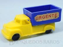 Brinquedos Antigos - Sem identificação - Caminhão Baú aberto Urgente com 10,00 cm de comprimento Década de 1950