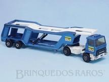 Brinquedos Antigos - Matchbox - Caminhão Cegonha Car Transporter Super Kings azul