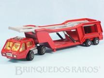 1. Brinquedos antigos - Matchbox - Caminhão Cegonha Car Transporter Super Kings vermelho
