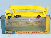 1. Brinquedos antigos - Matchbox - Caminhão Cegonha Guy Warrior Car Transporter amarelo King Size