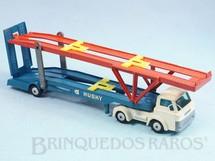 1. Brinquedos antigos - Corgi Toys-Husky - Caminhão Cegonha Hoynor Car Transporter cabine branca Husky Década de 1960