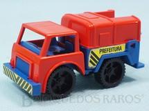 1. Brinquedos antigos - Casablanca e Gulliver - Caminhão Coleta de Lixo Prefeitura Big Frota Série Serviço Público Década de 1980