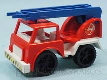 1. Brinquedos antigos - Casablanca e Gulliver - Caminhão com Escada Big Frota Série Serviço Público Década de 1980