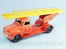 1. Brinquedos antigos - Tipp & Co. - Caminhão de Bombeiro com escada 19,00 cm de comprimento Década de 1950