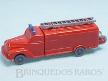 1. Brinquedos antigos - Wiking - Caminhão de Bombeiro com escada e mangueira Janelas Sólidas Década de 1950