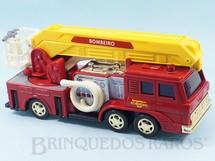 Brinquedos Antigos - Estrela - Caminhão de Bombeiro Comando Eletrônico com cromados dourados ultima Série fabricada Ano 1990