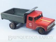 Brinquedos Antigos - Castor - Caminh�o Basculante Ford F600 1963 com 48,00 cm de comprimento D�cada de 1960