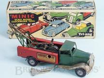 Brinquedos Antigos - Tri Ang Minic - Caminhão Guincho Breakdown Lorry Minic Motor Service Co. com dois motores 16,00 cm de comprimento Década de 1940