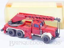 1. Brinquedos antigos - Wiking - Caminhão Guindaste Magirus Deutz KW 16 com 5,00 cm de comprimento Década de 1980