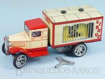 1. Brinquedos antigos - Kovap - Caminhão Jaula com Animais 20,00 cm de Comprimento