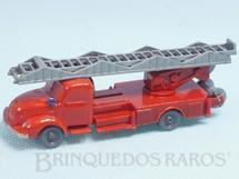 1. Brinquedos antigos - Wiking - Caminhão Magirus Deutz 1939 com escada e mangueira Janelas Sólidas Década de 1950