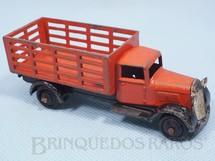 1. Brinquedos antigos - Dinky Toys - Caminhão Market Gardeners vermelho Ano 1935 a 1940