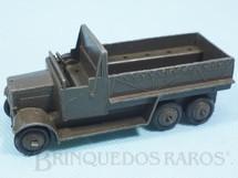 1. Brinquedos antigos - Dinky Toys - Caminhão Militar Six Wheel Wagon marrom oliva Ano 1937 a 1940