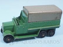 1. Brinquedos antigos - Dinky Toys - Caminhão Militar Six Wheel Wagon verde Ano 1946 a 1948
