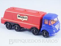 1. Brinquedos antigos - Lone Star - Caminhão tanque Foden Tilt Cab Tanker Mobil Impy Road Master Cabine basculante azul Década de 1970
