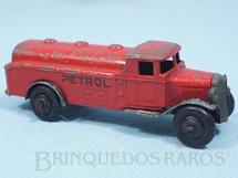 1. Brinquedos antigos - Dinky Toys - Caminhão Tanque Petrol Tanker vermelho ano 1946 a 1947