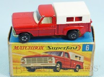 Brinquedos Antigos - Matchbox - Caminhonete Ford Pickup Superfast Transitional Weels