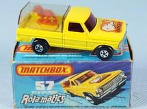 1. Brinquedos antigos - Matchbox - Caminhonete Wild Life Truck Rola-Matics