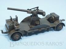 1. Brinquedos antigos - Dinky Toys - Canhão Anti Aircraft Gun marrom oliva Ano 1946
