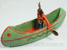 1. Brinquedos antigos - Casablanca e Gulliver - Canoa com índio remando Série Acampamento Apache