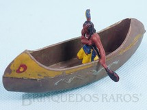 1. Brinquedos antigos - Casablanca e Gulliver - Canoa com índio remando Série Acampamento Apache RESERVED***AB***