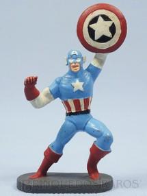 1. Brinquedos antigos - Casablanca e Gulliver - Capitão América de plástico pintado Escudo fixo Década de 1970