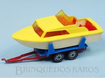 Brinquedos Antigos - Siku-Rei - Carreta Anhanger com Lancha Brasilianische Siku Alfema