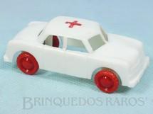 1. Brinquedos antigos - Beija Flôr - Carro Ambulância com 8,00 cm de comprimento Década de 1960