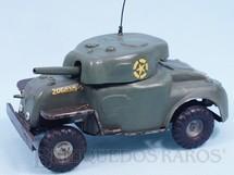1. Brinquedos antigos - Tri Ang Minic - Carro de Combate Tanque de guerra com rodas 20,00 cm de comprimento Minic Década de 1950