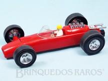 1. Brinquedos antigos - Estrela - Carro de Corrida Pé na Tábua com 24,00 cm de comprimento Primeira Série Ano 1971