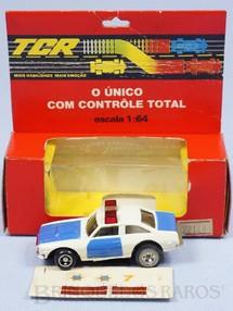 Brinquedos Antigos - Trol - Carro de Pol�cia TCR completo Adesivos ainda por colar Excelente estado D�cada de 1980