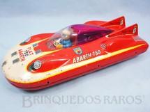 1. Brinquedos antigos - Bandai - Carro de Record Fiat Abarth 750 Pininfarina com 21,00 cm de comprimento Década de 1960