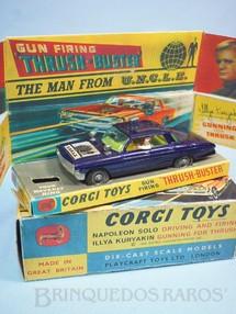 1. Brinquedos antigos - Corgi Toys - Carro do Agente da UNCLE The Man fron U.N.C.L.E. Azul Década de 1960
