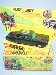 1. Brinquedos antigos - Corgi Toys - Carro do Besouro Verde Green Hornet Black Beauty completo Ano 1968