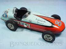 1. Brinquedos antigos - Sem identificação - Carro Formula Indy Indianapolis 500 com 39,00 cm de comprimento Década de 1960