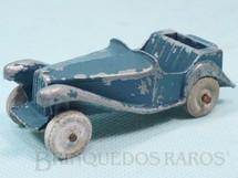 1. Brinquedos antigos - Timpo Toys - Carro MG azul 8,00 cm de comprimento com rodas de pedra Década de 1920