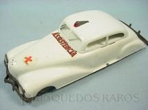 1. Brinquedos antigos - Metalma - Carro Sedan com 21,00 cm de comprimento Assistência Década de 1940